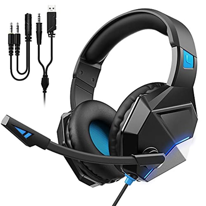 Gaming Headset with Noise Cancelling Mic + Surround Sound