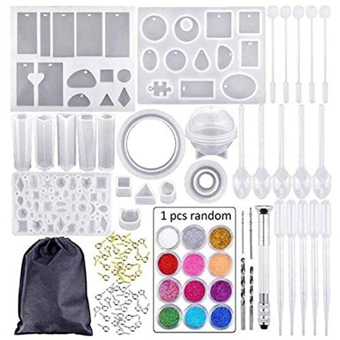 Gelentea 83pcs Resin Casting Molds Kits