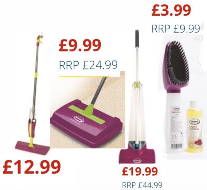 Home Bargains Cleaning Deals: Spray Mop, Carpet Cleaner, Carpet Sweeper