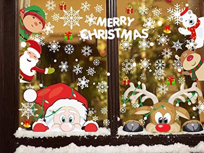 Window Clings Christmas Window Stickers Santa Claus