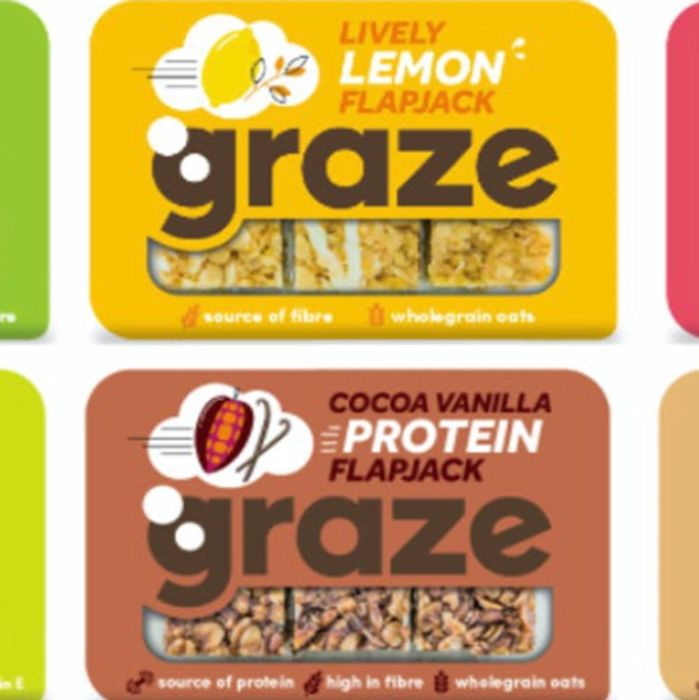 Graze Flapjacks Lemon Drizzle or Cocoa & Vanilla - 1/2 Price 60p!