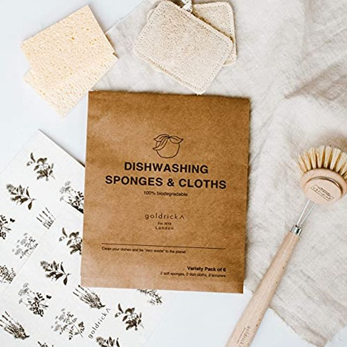 Organic Dishwashing Sponges - Scrub - Scourer   Natural Loofah Plant