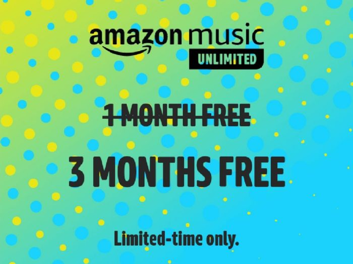 Get 3 Months FREE of Amazon Music Unlimited