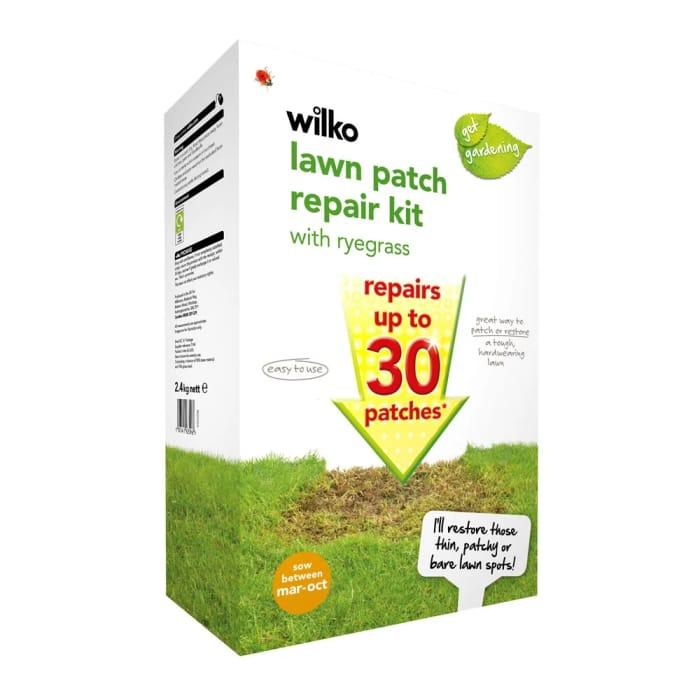 Wilko Lawn Patch Repair Kit with Ryegrass 2.4kg