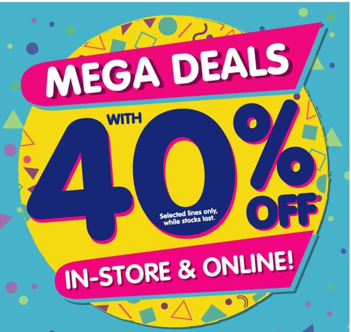 The Works Mega Deals - 40% Off 100+ Items!