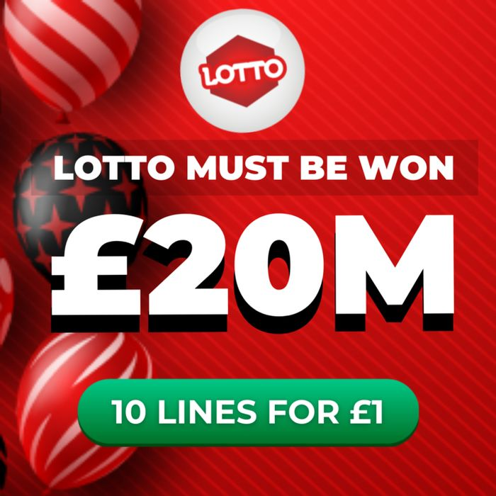 MUST BE WON - National Lottery £20 Million Jackpot 10 Lines - £1 At Lottosocial