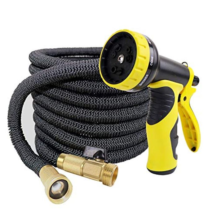 DEAL STACK - WHOLEV Expandable 50ft Garden Hose Pipe with 9 Nozzle + £9 Coupon