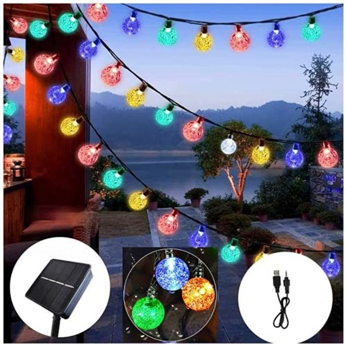 60 LED Solar Garden Fairy Lights with 8 Modes