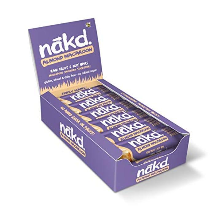 Nakd Almond Macaroon Natural Fruit & Nut Bars **46% off