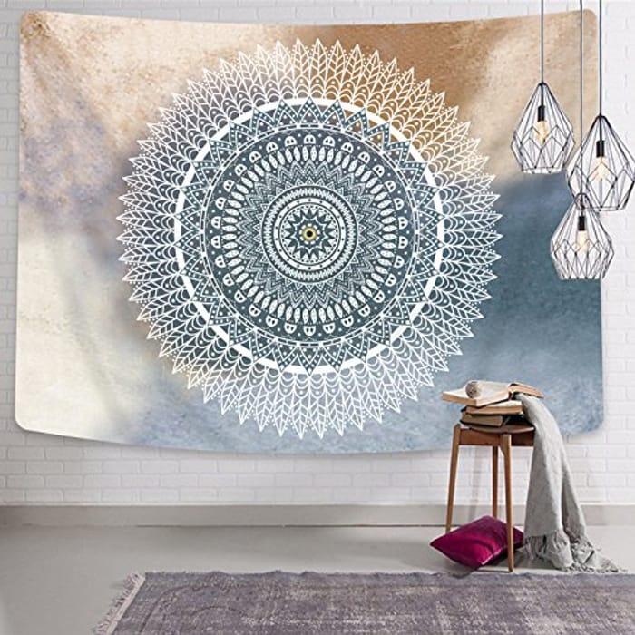 Bateruni Mandala Wall Tapestry - 59.1x51.2ins
