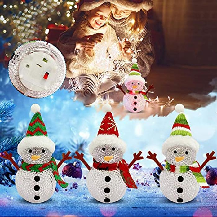 2021Christmas Glowing Snowman - save 70% at Checkout