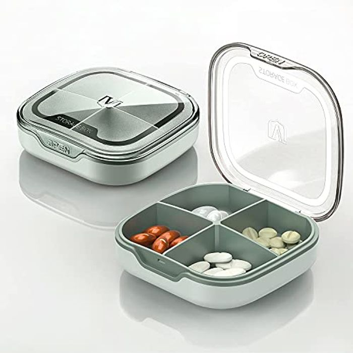 DEAL STACK - ,Vitamin Case for Purse, Small Medicine Organizer + 30% Coupon