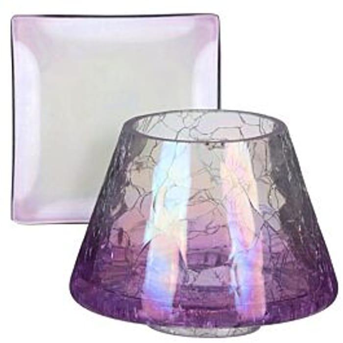 Yankee CandleSavoy Purple Crackle Small Shade & Tray