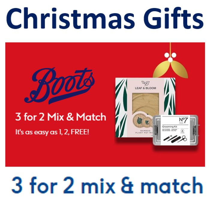 CHEAP! Boots Christmas 3-for-2 Gifts | MIX & MATCH | Online Only | 1, 2, FREE!