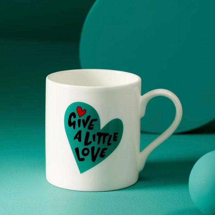 John Lewis & Partners Give a Little Love Mug, 300ml - Now Just £1