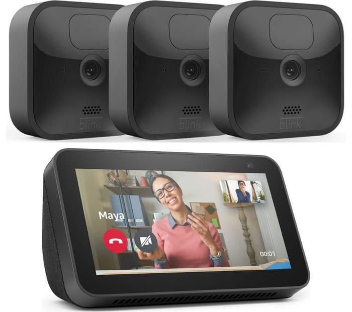 AMAZON Blink Outdoor HD WiFi Security 3 Camera System & Echo Show 5 Bundle
