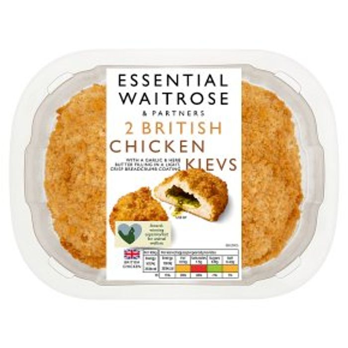 Essential Waitrose 2 British Chicken Kievs 250g