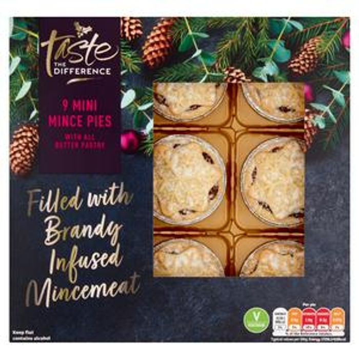 Sainsbury's Taste The Difference Mini Mince Pies x 9 - £1.50