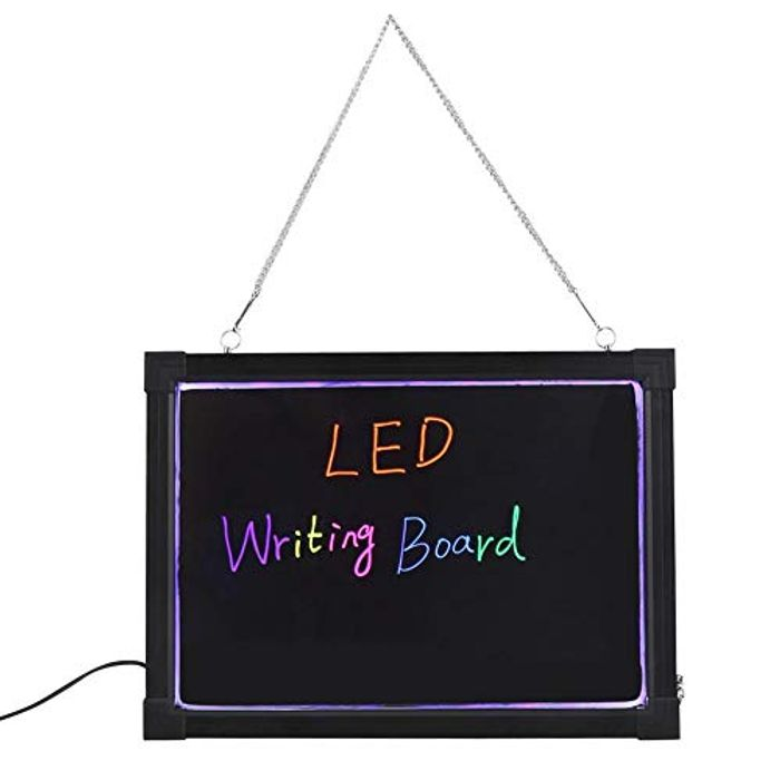 AYNEFY Erasable LED Writing Board with 8 Highlighters + Remote - 40x60cm