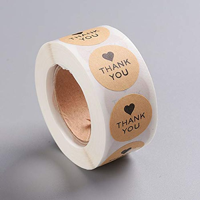 100 'Thank You' Stickers