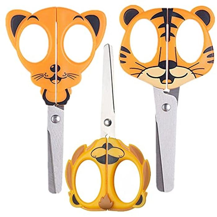 3 Pack Child Safe Animal Scissors