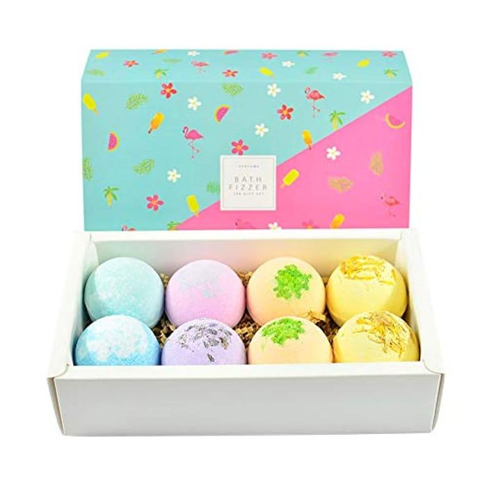 Anself 8pcs Bath Bomb Gift Set