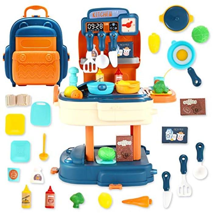 BUY 1 GET 1 FREE! OleOletOy 31pcs Kitchen Playset Backpack