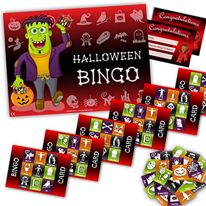 CHEAP! Halloween Party Game - HALLOWEEN BINGO - up to 20 Players