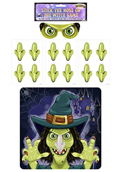 CHEAP! Henbrandt Halloween Party Game - Stick the Nose on the Witch