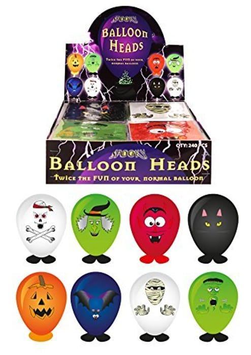 8 X Self Making Halloween Balloons Heads (Assorted)