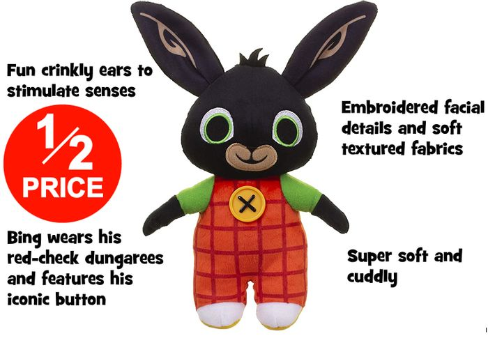 HALF PRICE! Bing Bunny Soft Toy 21cm