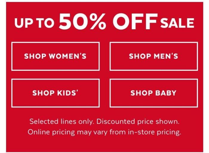 Tu 50% Sales