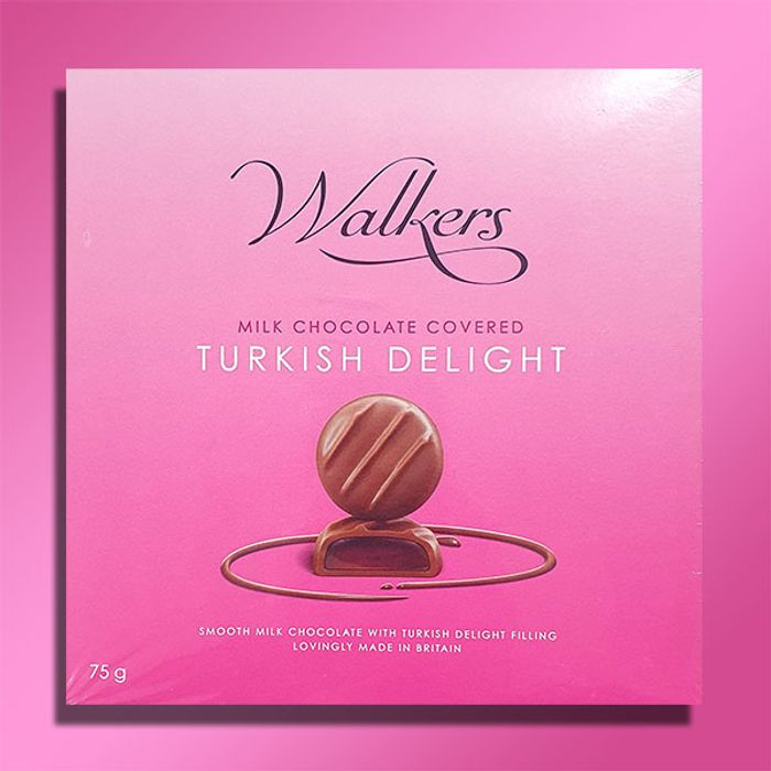 1 X Walkers of London Chocolate Covered Turkish Delight 75g Box