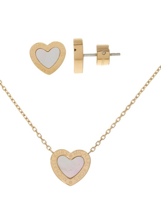 MICHAEL KORS Gold Tone Necklace & Earrings Set