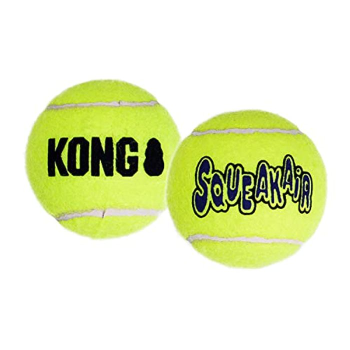 KONG - Squeakair Balls - Dog Toy Premium Squeak Tennis Balls