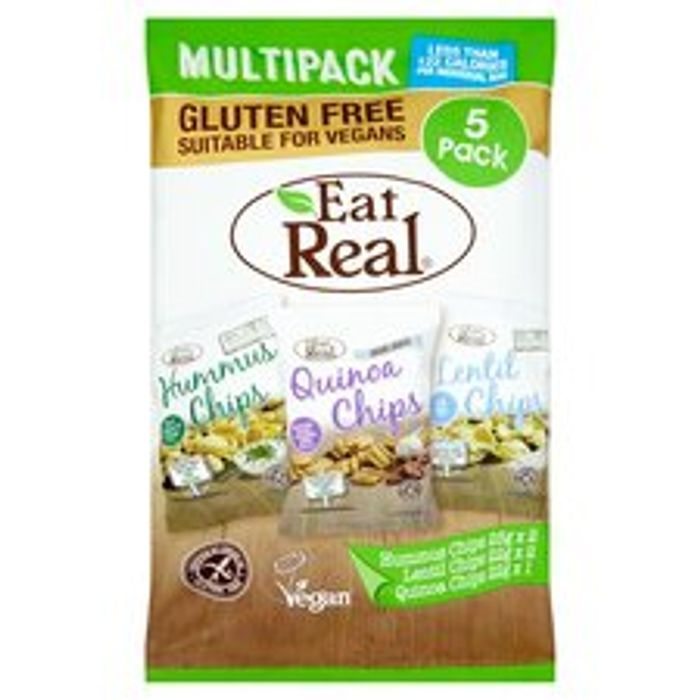 Eat Real Hummus Lentil, Quinoa Chips 5 Pack 116G