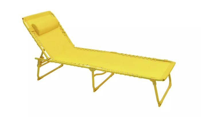 Argos Home Set of 2 Sun Loungers - Yellow Click & Collect