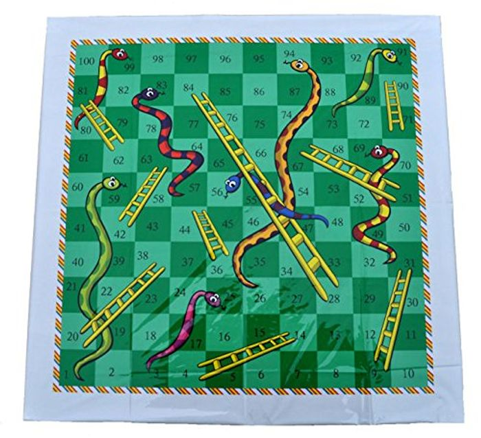 A to Z Giant Snakes & Ladders Family Fun Indoor Outdoor Game New in Retail Pack