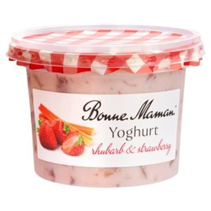 Bonne Maman Strawberry & Rhubarb Yoghurt 450g