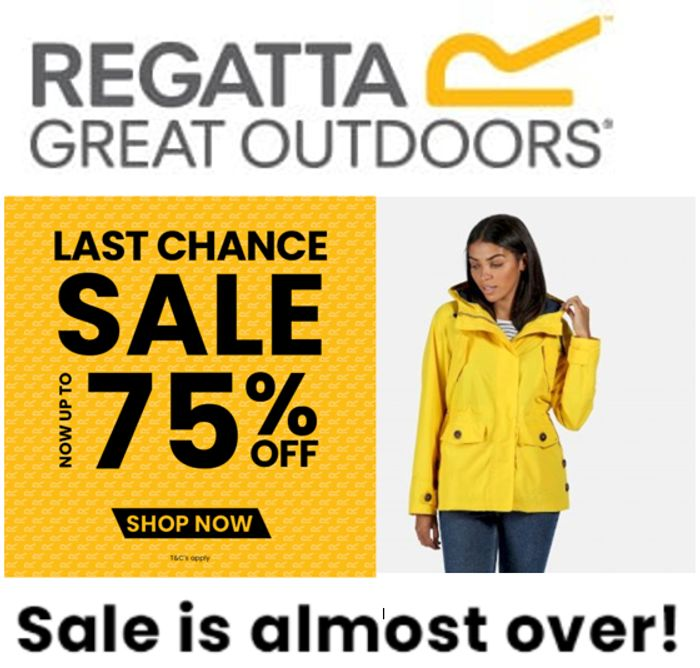 LAST CHANCE! ENDS TUESDAY! Regatta Sale - Up to 75% OFF -