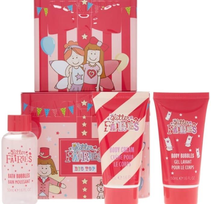GLITTER FAIRIES Pink Glitter Fairies Tin Bath Gift Set