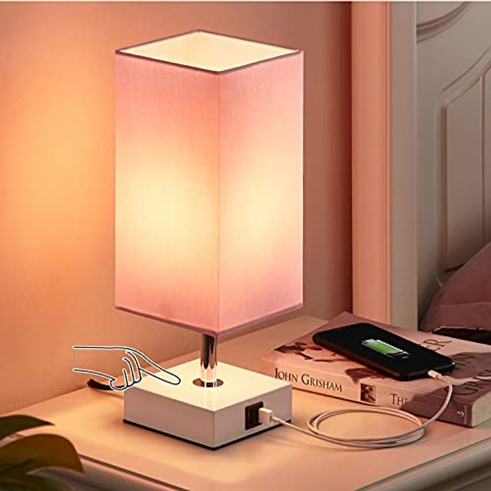 Touch beside Table Lamp with 2 USB Charging Ports
