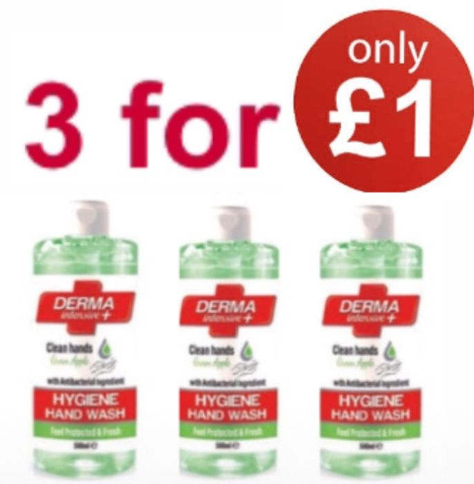 3 for £1 Mellor & Russell Derma Intensive + Hygiene Apple Hand Wash 500ml