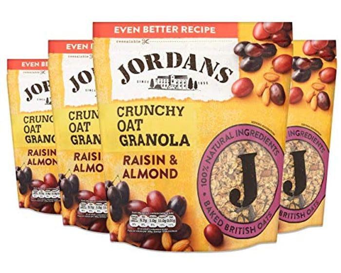 Jordans Granola Raisin & Almond | Breakfast Cereal | High Fibre 4 PACKS of 750g