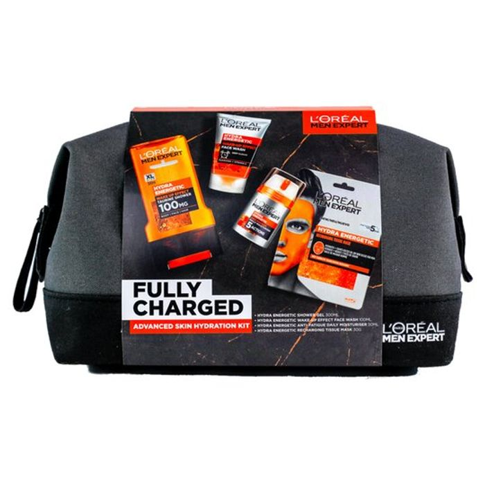 L'Oreal Men Expert Fully Charged Wash Bag 4 Piece Gift Set - Only £5!