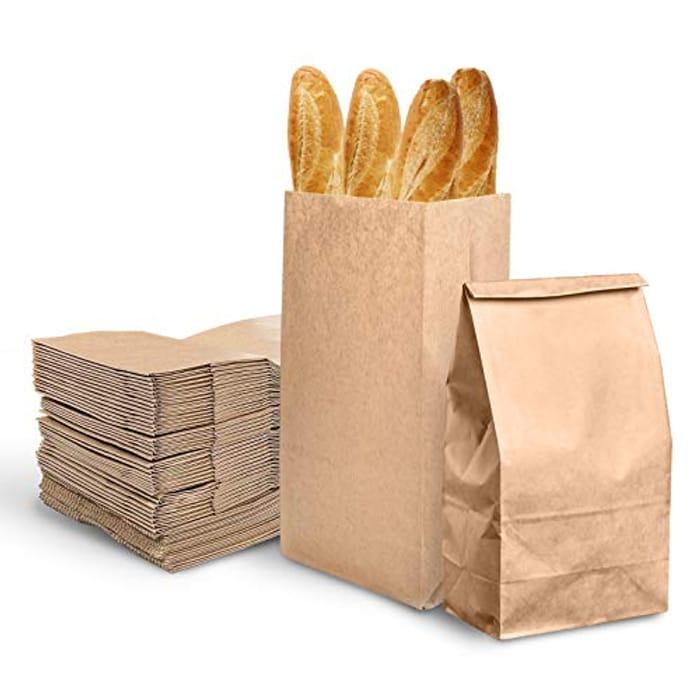200pcs Kraft Brown Paper Bags - 9x18x5,5cm