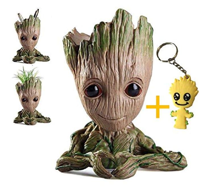 Cute Baby Groot Planter Flowerpot / Pencil Pot - 6 Inches