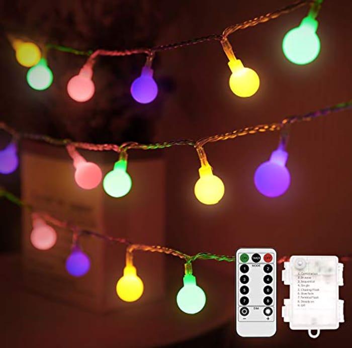 Othran 33FT Globe Fairy Lights Battery, 100 LED String Lights - Only £9.73!