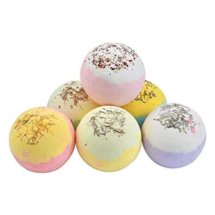 Organic Natural 6Pcs Colorful SPA Bath Bombs Gift Set - Only £4.99!