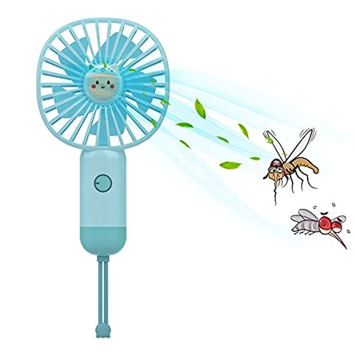 Mini Handheld Rechargeable USB Fan with 3 Speeds